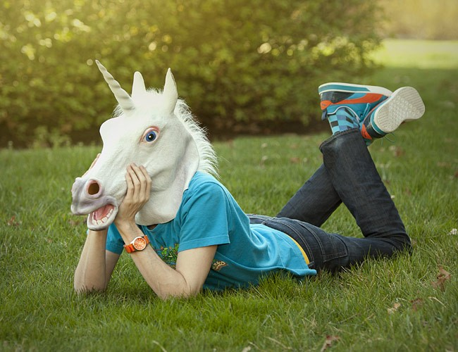unicorn head mask