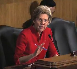Elizabeth Warren Kicks Federal Bank Regulators Collective Arses