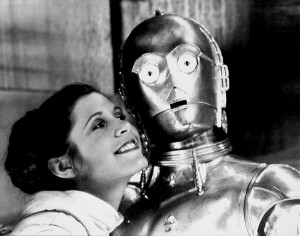 Carrie and C-3PO