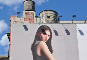 Kendall Jenner defaced by a drone