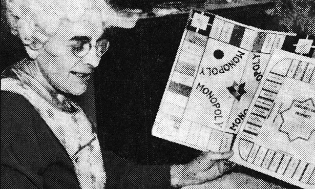 Lizzy Magie, inventor of the Landlord's Game, which we now know as Monopoly, in 1936
