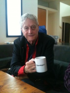 Ted Nelson with #geekgirl mug