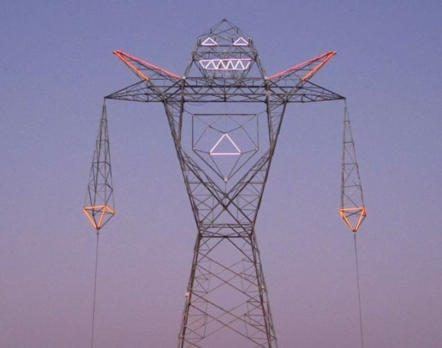The 148 ft (45 m) high robot, designed by DOMA, Argentina, 2012