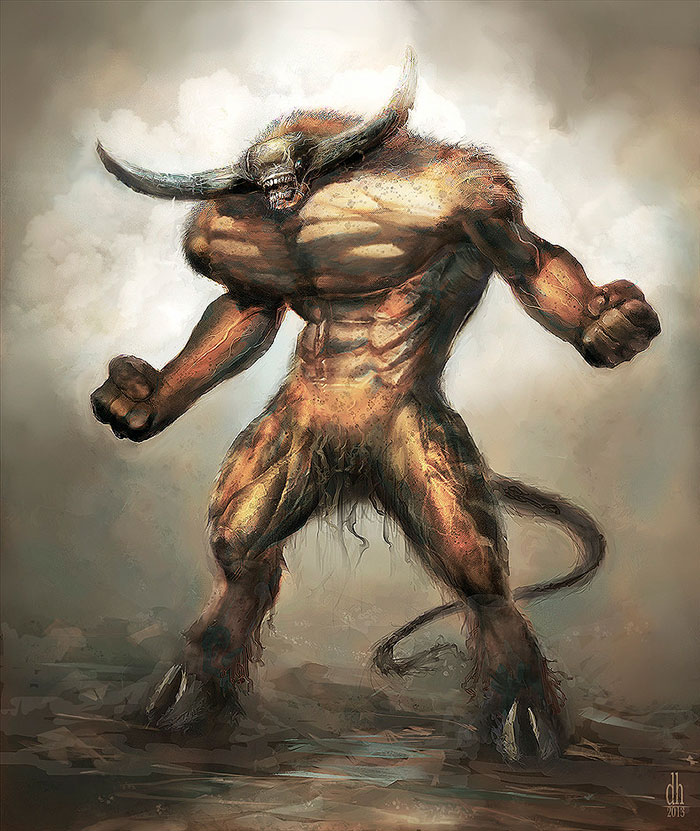 zodiac-monsters-fantasy-digital-art-damon-hellandbrand-taurus